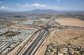 image of superstition mountains  - East Valley interchange of the U - JPG