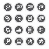 SEO icons, search engine optimization