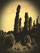 Sepia Snapshot Of The Desert
