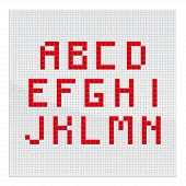 Red Mosaic Alphabet Part One
