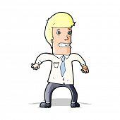 cartoon nervous businessman