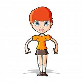 cartoon woman looking annoyed