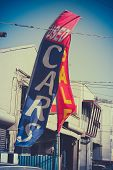 Retro Used Car Dealer Sale Sign