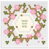 Mosaic Flower Card