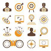 dart, target icons