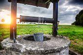 Ancient Draw-well In European Village