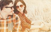 Hipster Couple, With Sunlight Effect