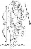 Lord Rama Folk Style