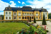 Castle Veitshöchheim, historic palace with Rococo Garden in Bavaria, Germany
