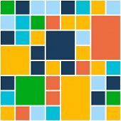 Squares Color Background. Vector Template for Flat Design Interface or Infographic