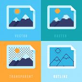 stock photo of png  - Vector flat icons  - JPG
