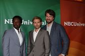 LOS ANGELES - JUL 13:  Harold Perrineau, Matt Ryan, Charles Halford at the NBCUniversal July 2014 TCA at Beverly Hilton on July 13, 2014 in Beverly Hills, CA
