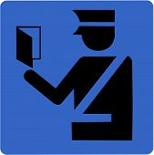 foto of deportation  - Vector illustration of the immigration or border control symbol - JPG