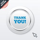 Thank you sign icon. Gratitude symbol.