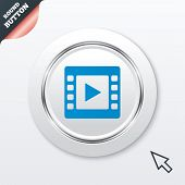 Video sign icon. Video frame symbol.