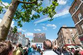 Tour de France opening with Red Arrows over York