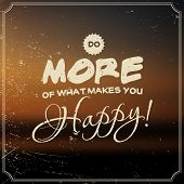 Vector landscape poster: do more of what makes you happy!