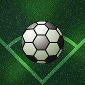 Soccer Ball Corner Of Green Field