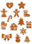 Gingerbread Christmas figures set