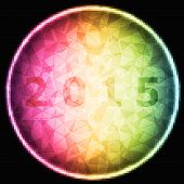 Design Magic Ring With 2015 Background