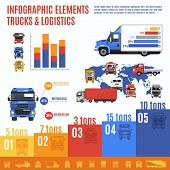 Truck Infographic Set