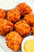 cheese balls with sauce