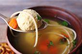 picture of meatballs  - Meatball in spoon - JPG
