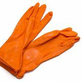 Orange Cleaning Gloves
