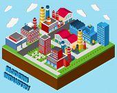 Industrial Buildings Isometric