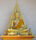 Seated Golden Buddha.