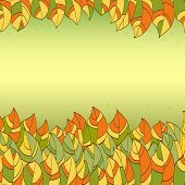frame of colorful autmn leaves