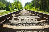 White Love On Railway