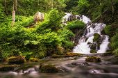 Small cascading waterfall