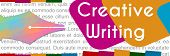 Creative Writing Colorful Banner