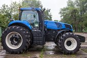 Big Blue New Tractor