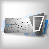 Infographic banner, origami styled vector