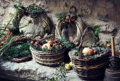 Rustic Winter Baskets