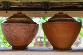 Clay Pot On Drinking Water Is The Thai Way Of Life , Lanna Style