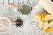 image of facial  - Homemade facial masks with natural ingredients - JPG