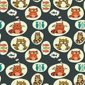Doodle Cats Pattern.