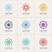 Vector ornamental symbols
