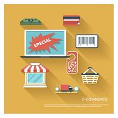 E-comerce Flat Design Vector