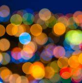 Beautiful Big Abstract Xmas Circular Lights Bokeh Background, Closeup