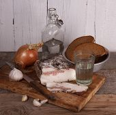 Still-life With Lard And Vodka