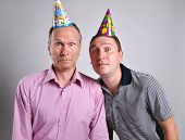 Birthday men young and old man, portrait shoot,