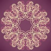 Round Natural Purple Pattern