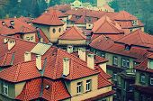 the roofs of the houses in Prague