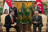 President Of Ukraine Petro Poroshenko And President Of Singapore Dr Tony Tan Keng Yam