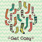 Colorful Patterned Socks