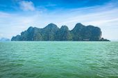 Great Rocky Mountain In The Sea At Phuket,thailand